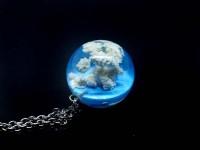 Gökyüzü Kolye (25mm)-Reçine Kolyeler-RengaLux
