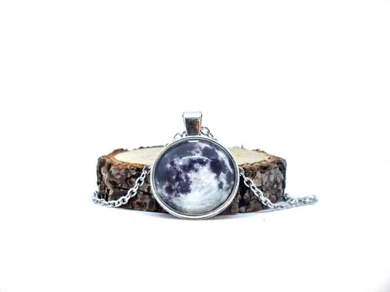 Galaxy Dolunay Gümüş Kolye-Kolye-RengaLux