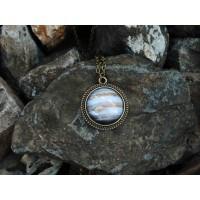 Galaxy Jupiter Antik Bronz Kolye