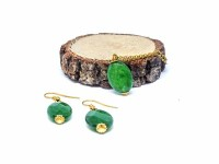 Yeşil Taşlı Set