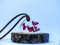 Reçine Kolye Pembe Çiçekler