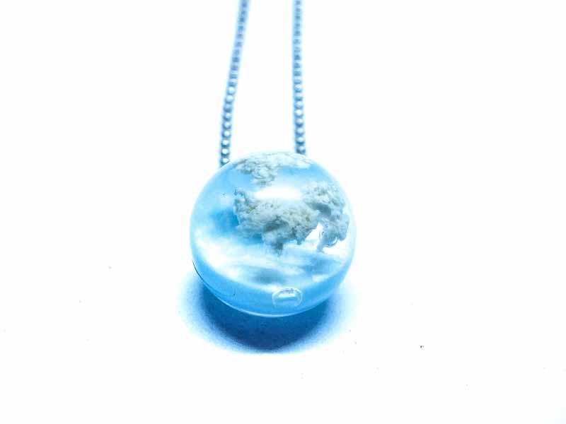 Bulut Kolye Küre-Reçine Kolyeler-RengaLux