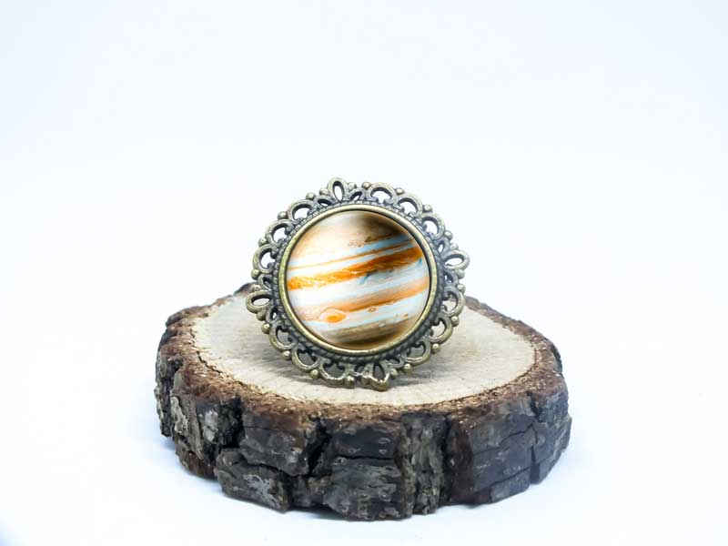 Galaxy Jupiter Antik Bronz Yüzük-Yüzük-RengaLux