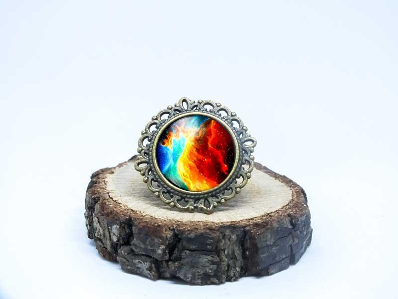 Galaxy Nebula Antik Bronz Yüzük-Yüzük-RengaLux