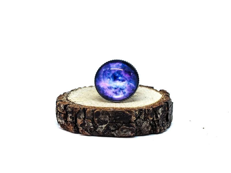 Mor Galaxy Gümüş Yüzük-Yüzük-RengaLux