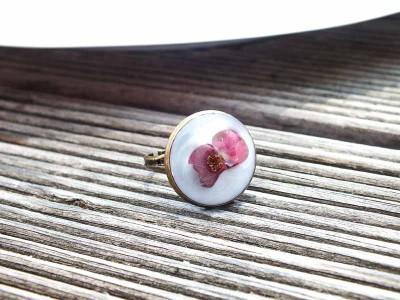 Pembe Çiçekli Yüzük